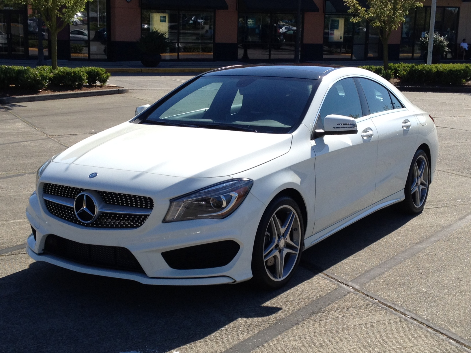 Its finally here My white CLA 250 4Matic