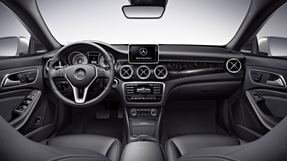 2014 mercedes cla interior photos. Black Bedroom Furniture Sets. Home Design Ideas