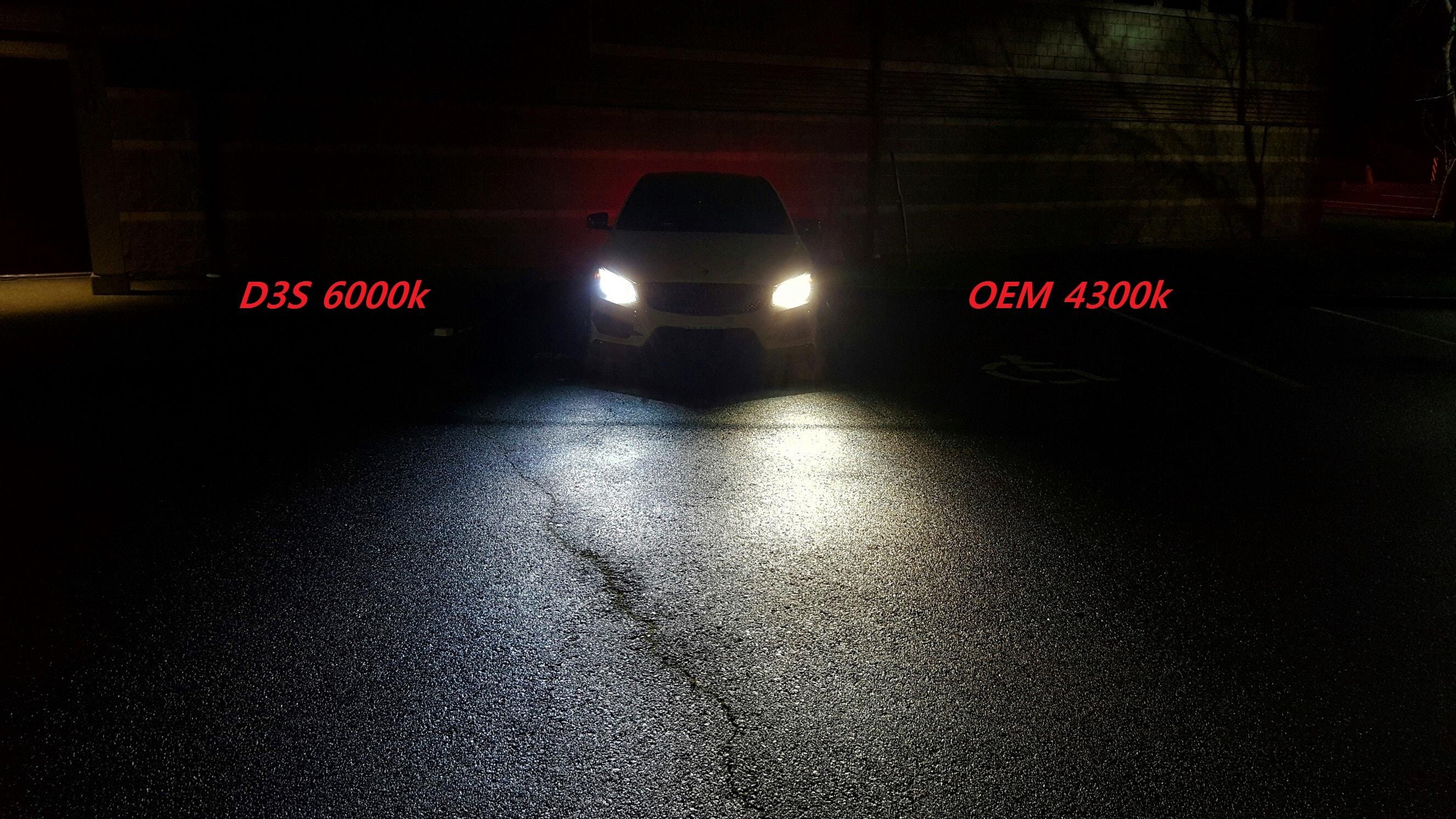 Bi Xenon Headlight 6000k Vs 4300k Oem Stuck