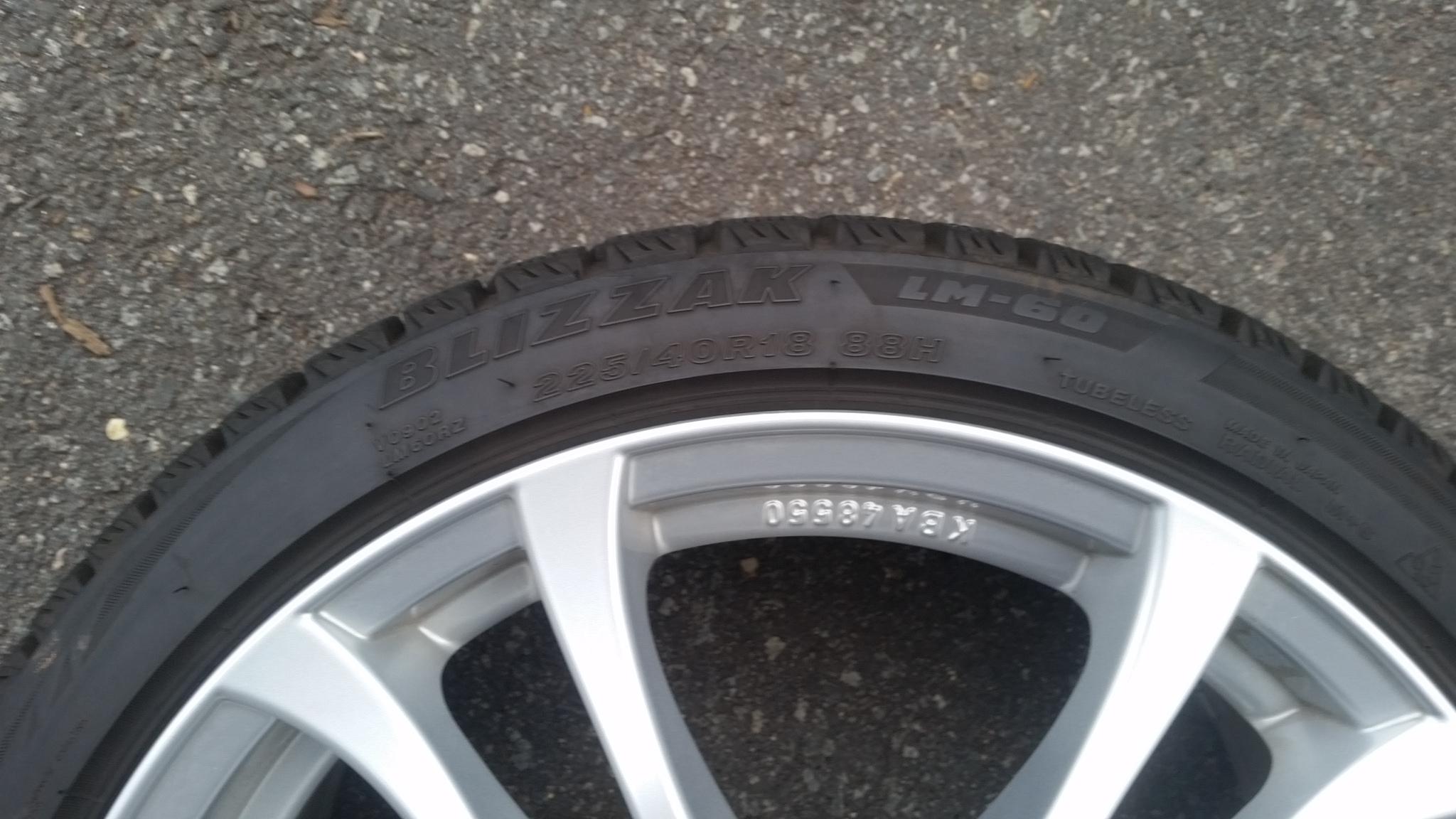 Blizzak Winter Tires Wheels Set