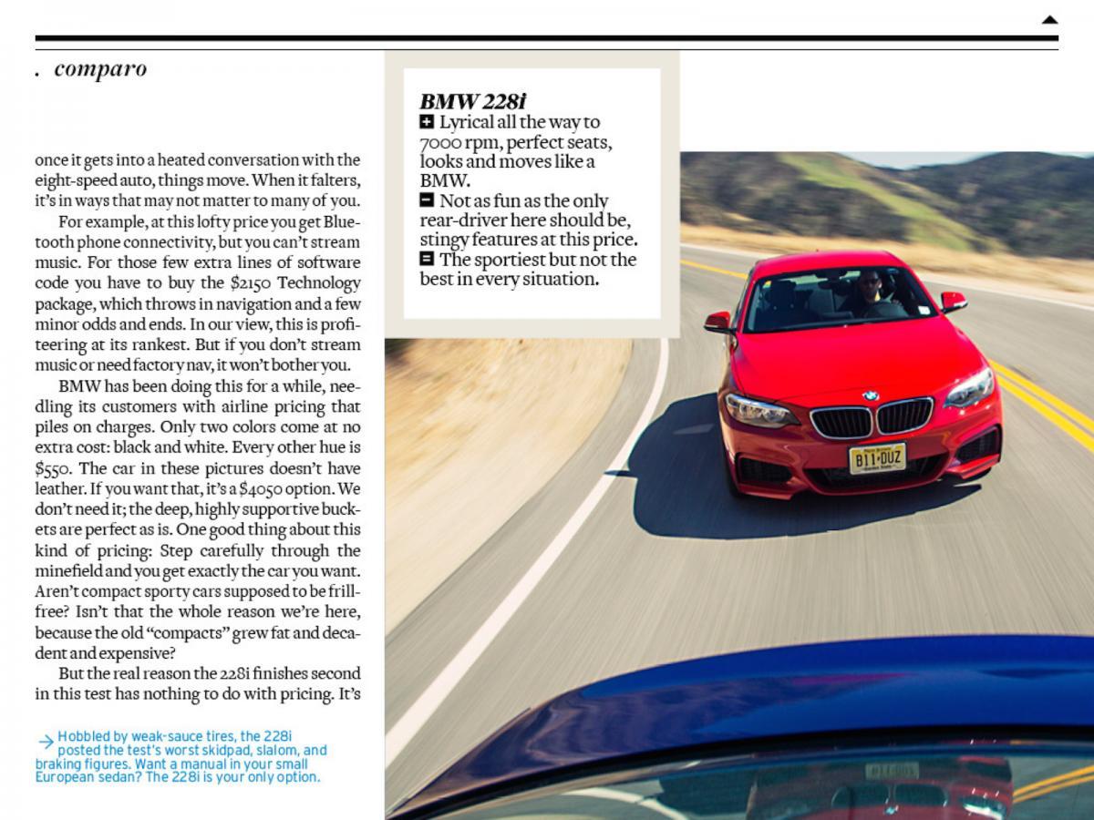 Car And Driver June Magazine CLA Vs I Vs A Attachments - Audi car and driver