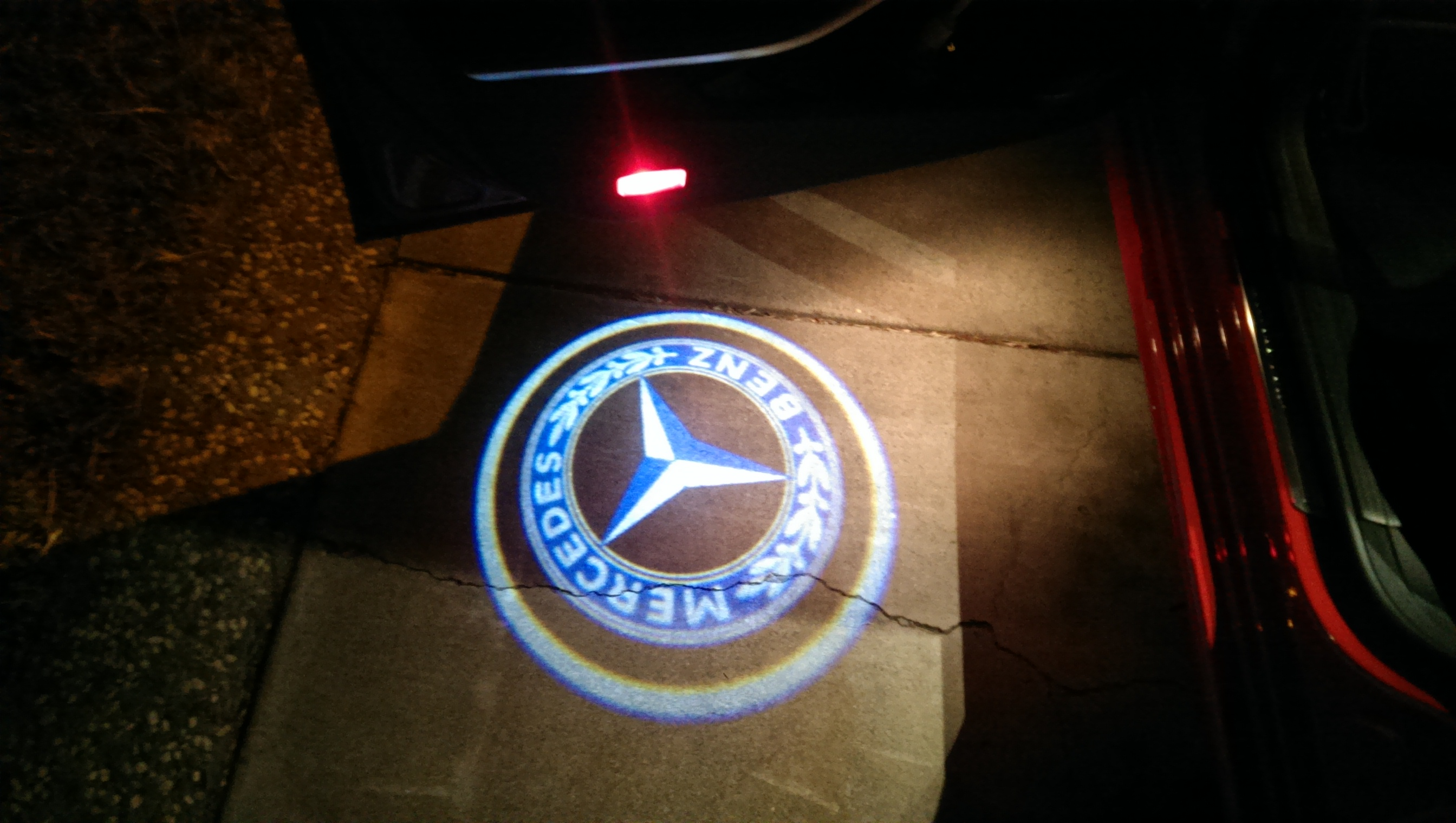 mercedes benz welcome light installation