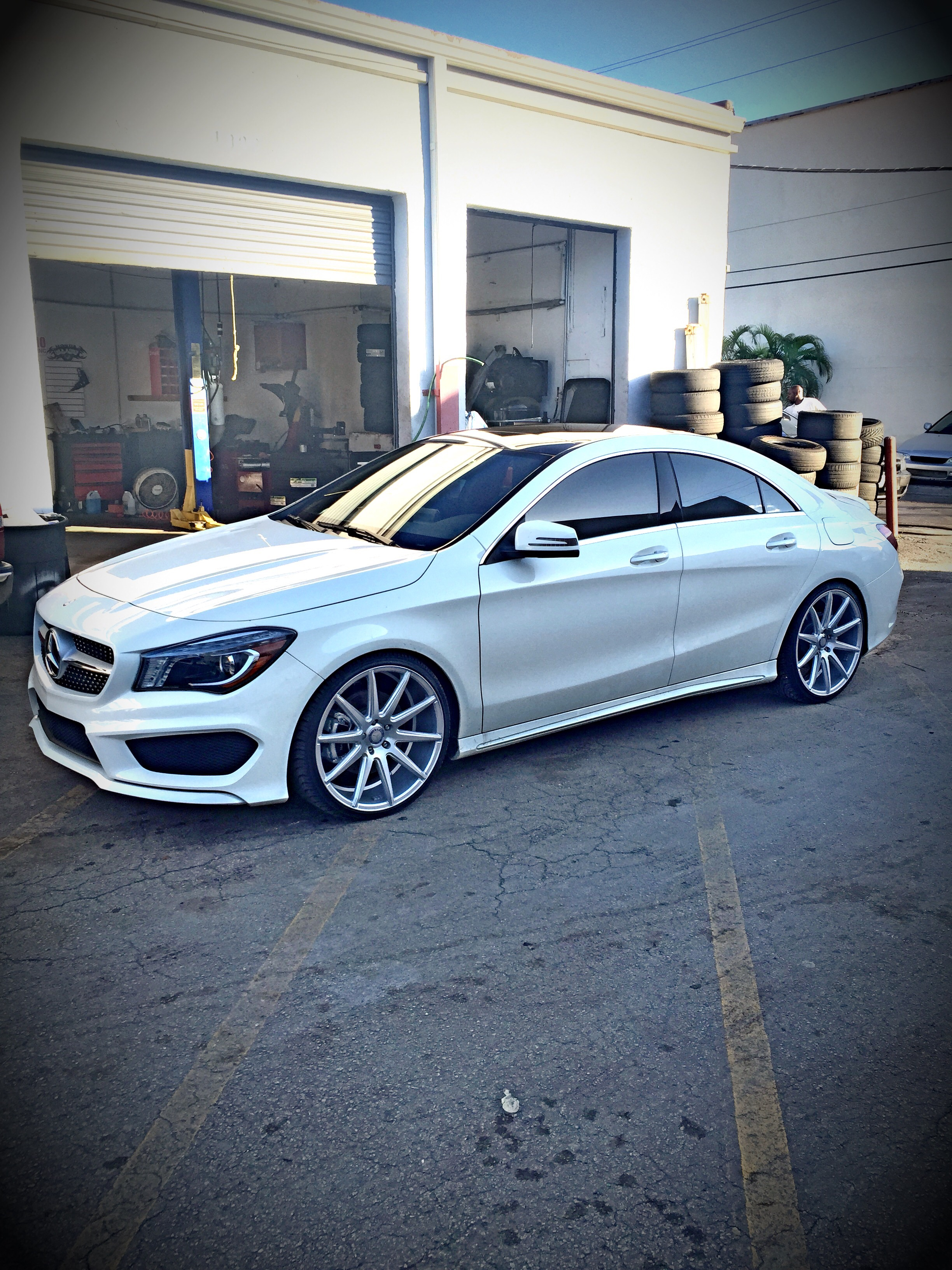 Mercedes Benz Rims >> CLA250 20inch wheels installed on H&R Sport Springs Cirrus ...