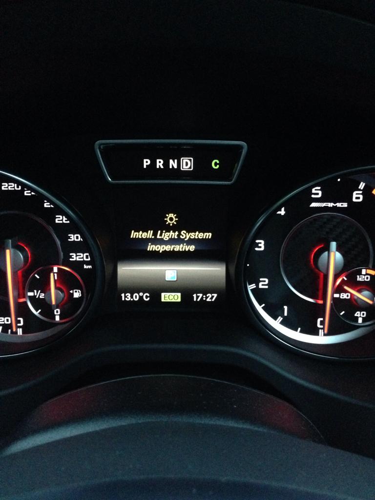 Intell  light system inoperative | Mercedes CLA Forum