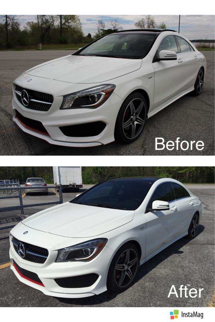 35 Windshield Tint >> Cla 250 White Sport Plus With 35 Tints All Around Included