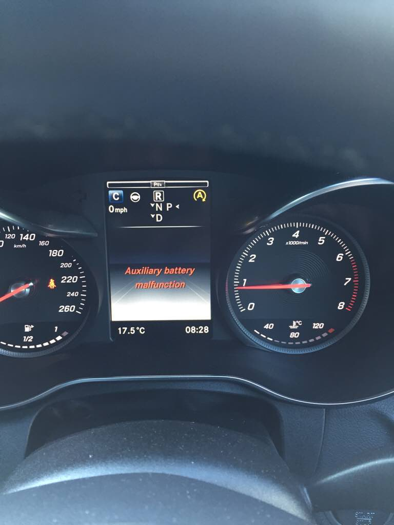 D Auxiliary Battery Malfunction Error Imageuploadedbymercedes Cla Forum