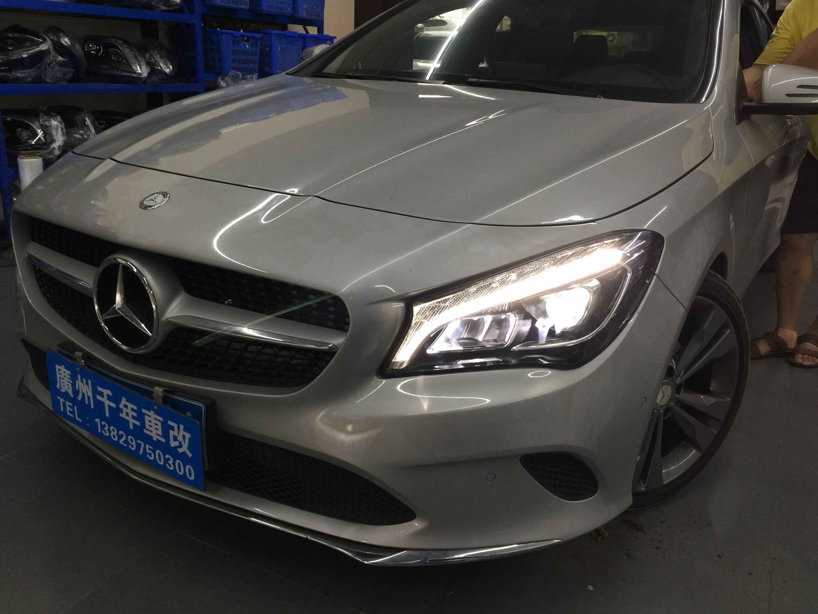 Mercedes Cla 250 >> Mercedes-Benz CLA250 halogen lamp transformation LED headlamps