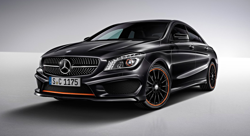 Mercedes cla orange edition for Mercedes benz cla 350