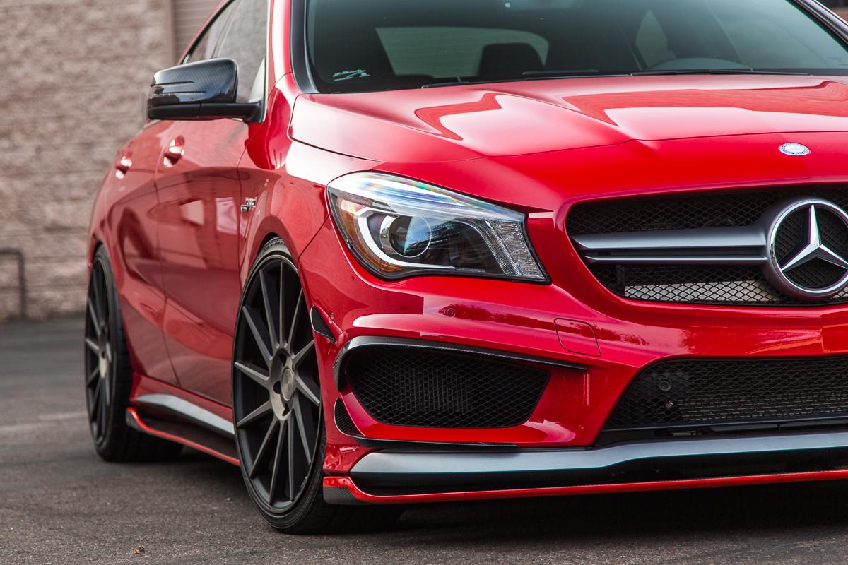 Mercedes Cla45 Amg Recaro Armytrix Kw Revozport Red Low