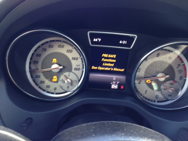 PRE-Safe function limited warning   | Mercedes CLA Forum