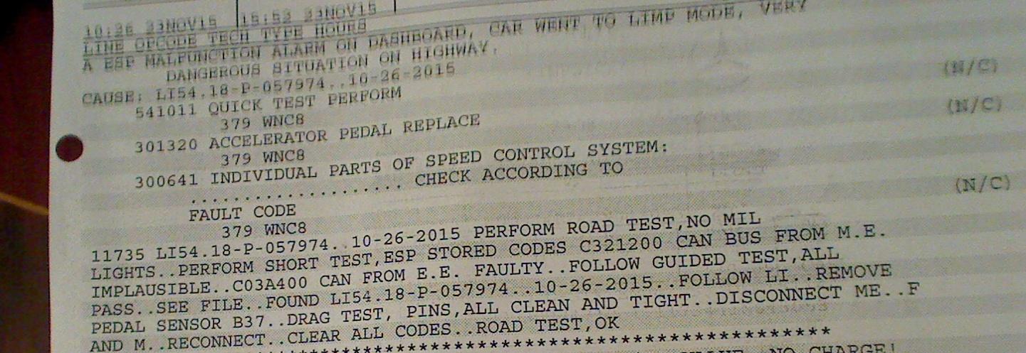 ESP lights on while driving - limp mode - CEL after restart