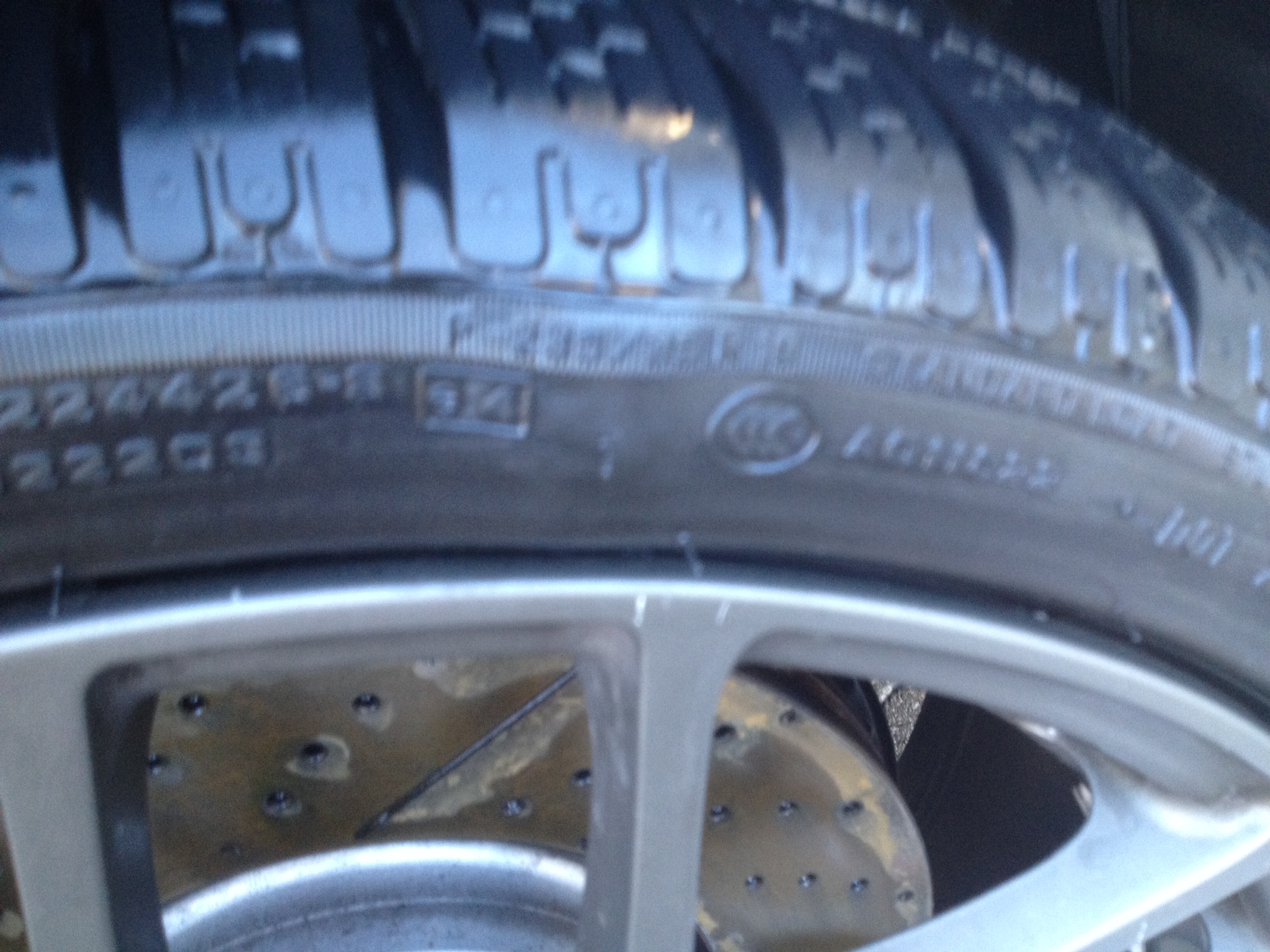 Defective run-flat - a bubble formed on the outside r/f tire on sidewall