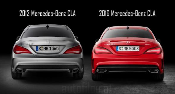 Cla 2013 Vs 2016 Facelift Exterior Comparison