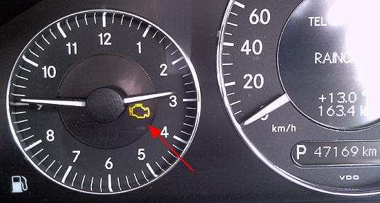 engine warning light is up!