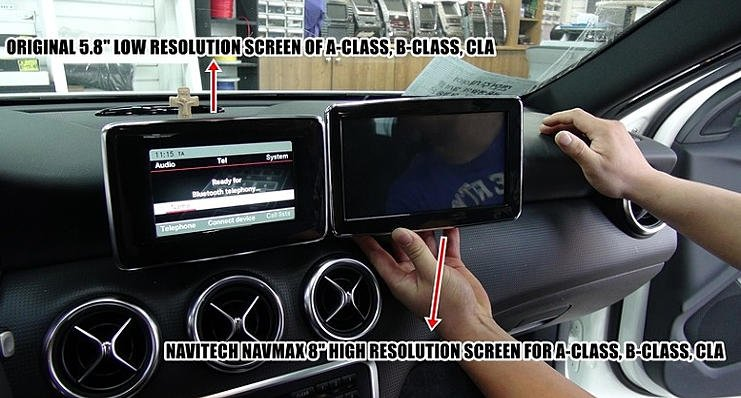 CLA 8 inch OEM fit monitor | Mercedes CLA Forum