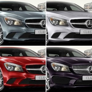 Mercedes-Benz CLA Colors / Paint Codes