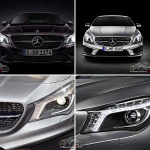 Mercedes-Benz CLA Headlight Pictures