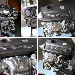 Mercedes-Benz CLA45 AMG Engine Pictures