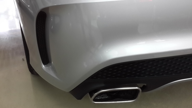 AMG Sport rear spoiler and diffuser with twin exit chrome tip exhausts
